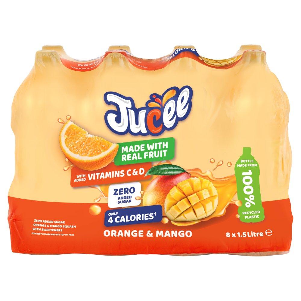 Jucee No Added Sugar Orange & Mango 8 x 1.5 Ltr