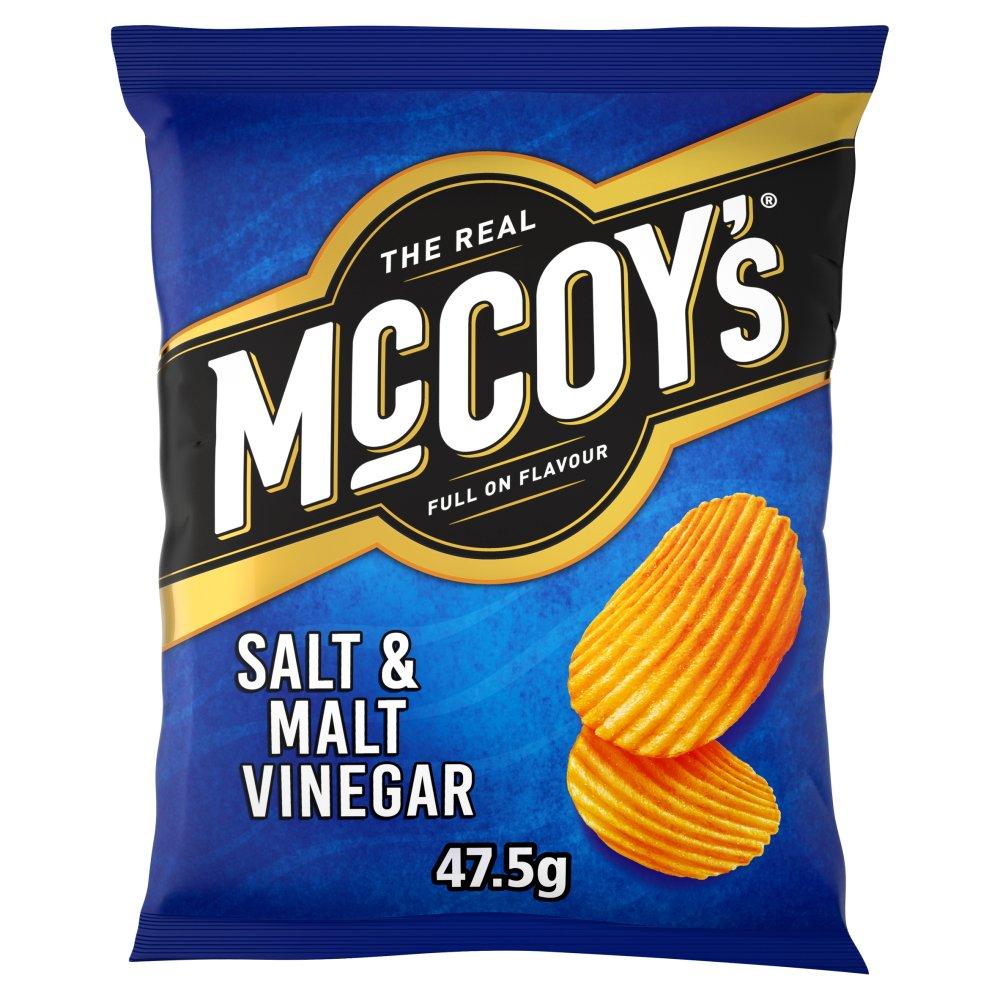 McCoy's Salt & Malt Vinegar Crisps 47.5g