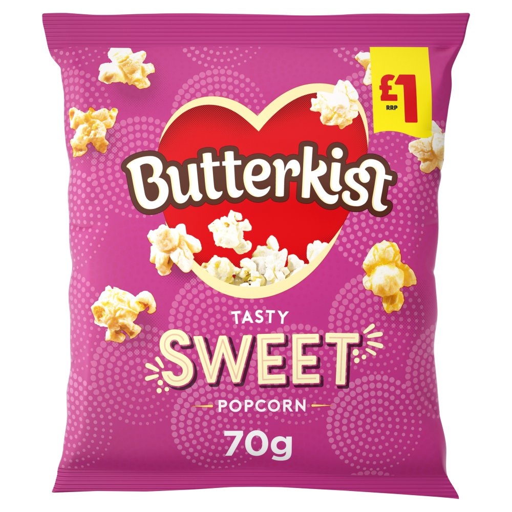 Butterkist Cinema Sweet Popcorn 70g, £1 PMP