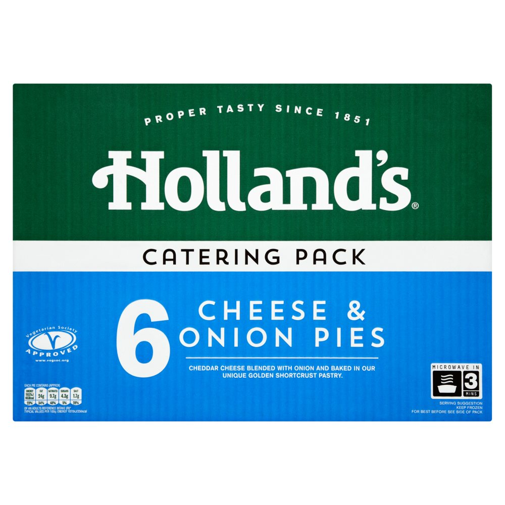 Hollands Cheese & Onion Pie Catering Pack
