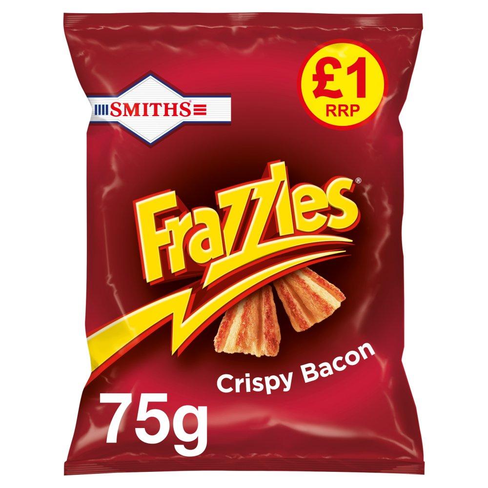 Smiths Frazzles Crispy Bacon Snacks £1 RRP PMP 75g
