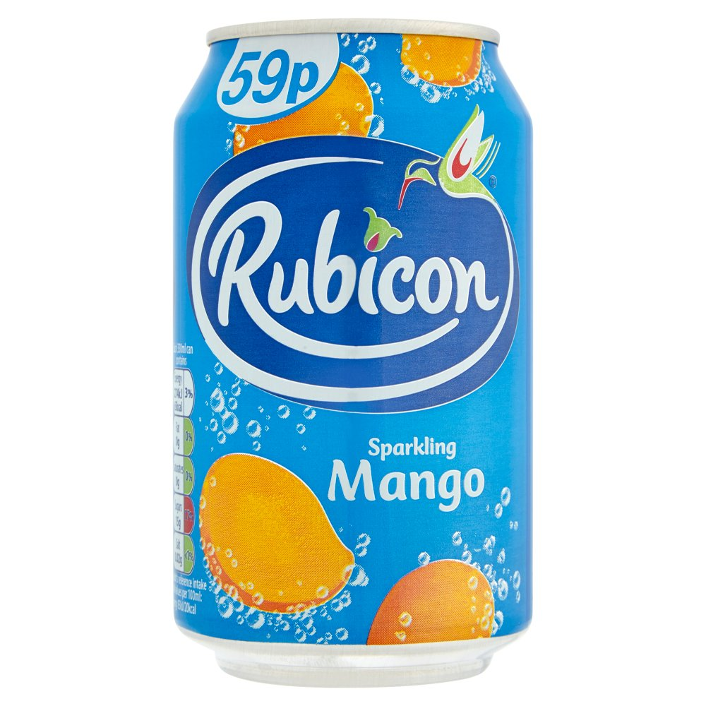 Rubicon Sparkling Mango Juice Drink 330ml Can 59p