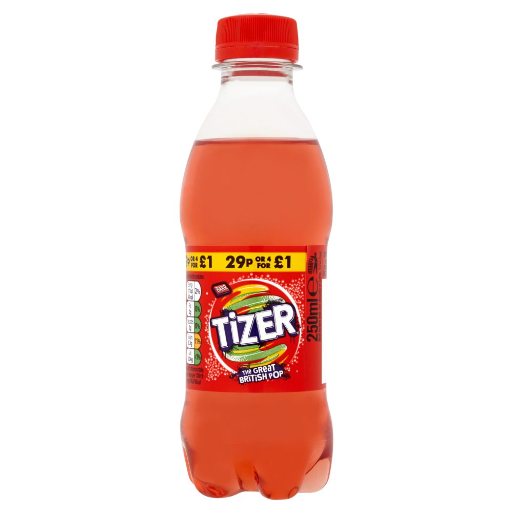Barr Tizer 250ml Bottles PMP 29p Or 4 For £1