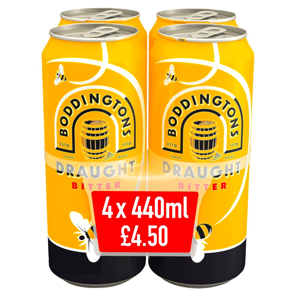 Boddingtons Draught Bitter Beer Cans 4 x 440ml