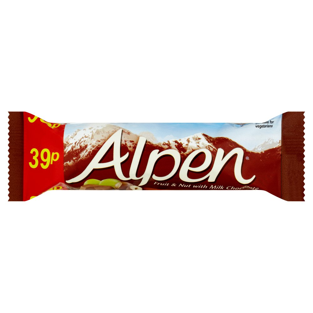 Alpen Fruit & Nut Chocolate Bar PM 39p