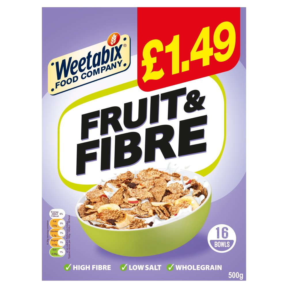 Weetabix Food Company Fruit and Fibre Case 10 x 500g PMP £1.49
