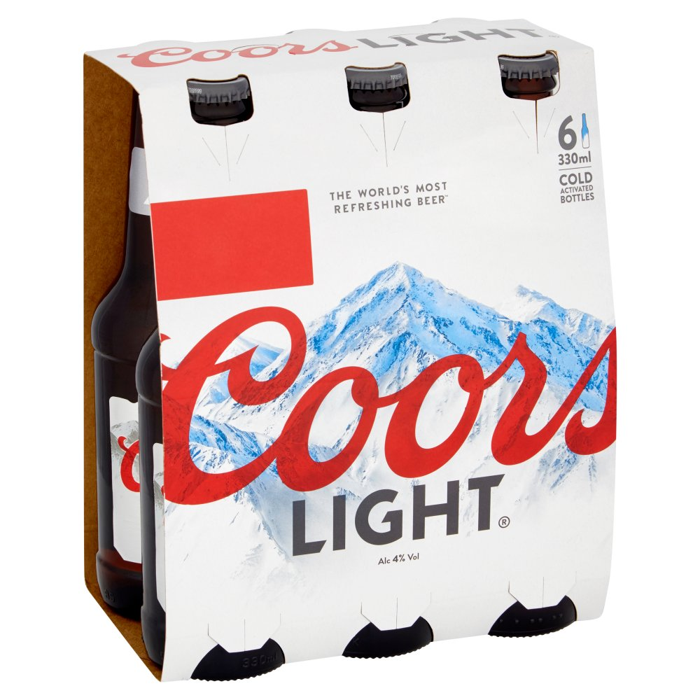 Coors Light Lager 6 x 330ml