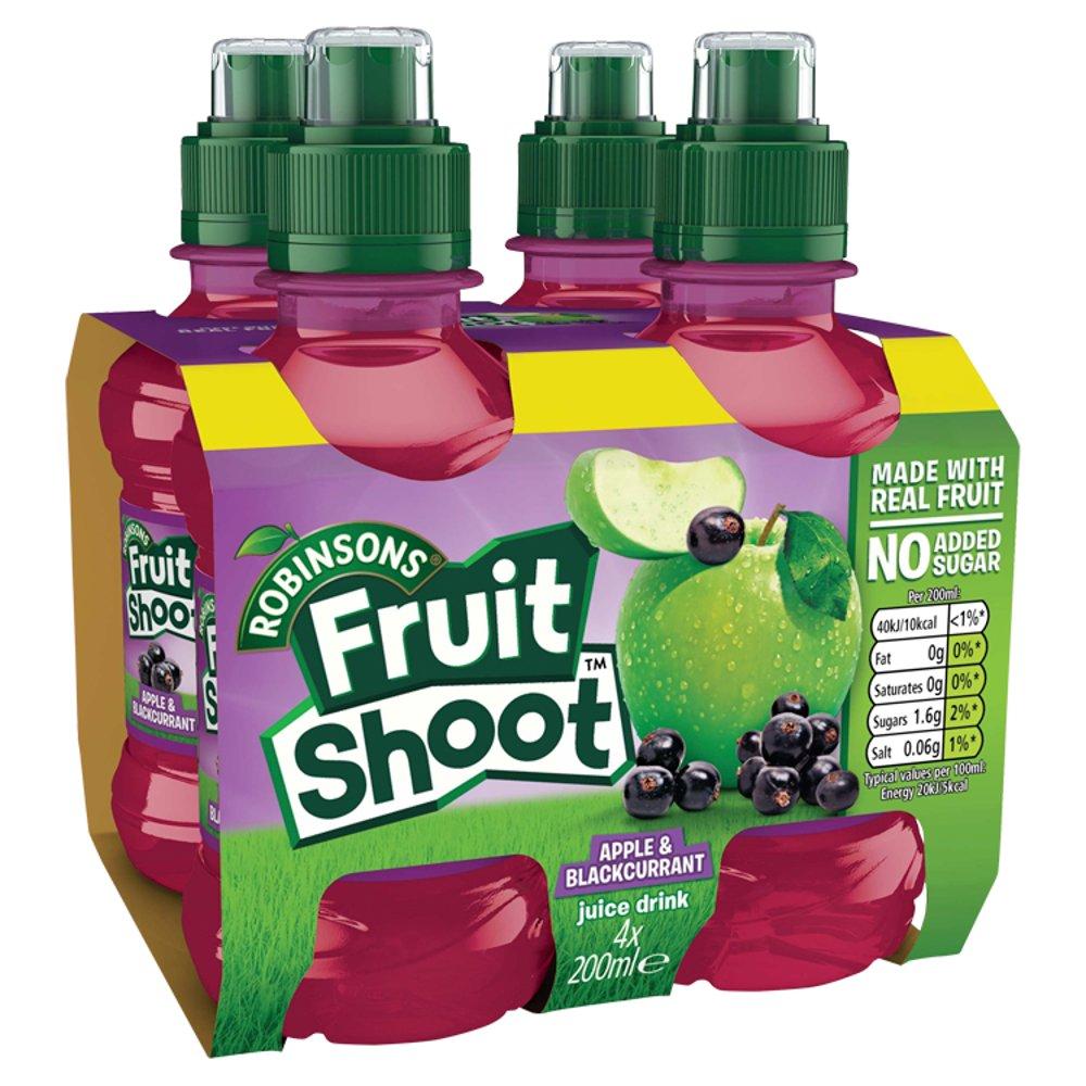 Robinsons Fruit Shoot Apple & Blackcurrant Juice Drink 4 x 200ml