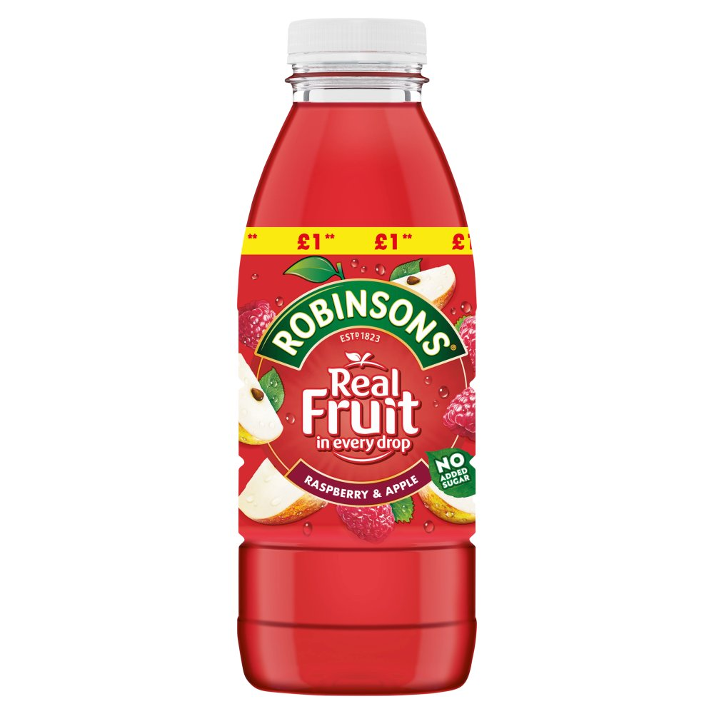 Robinsons Ready to Drink Raspberry & Apple Juice Drink PMP 500ml