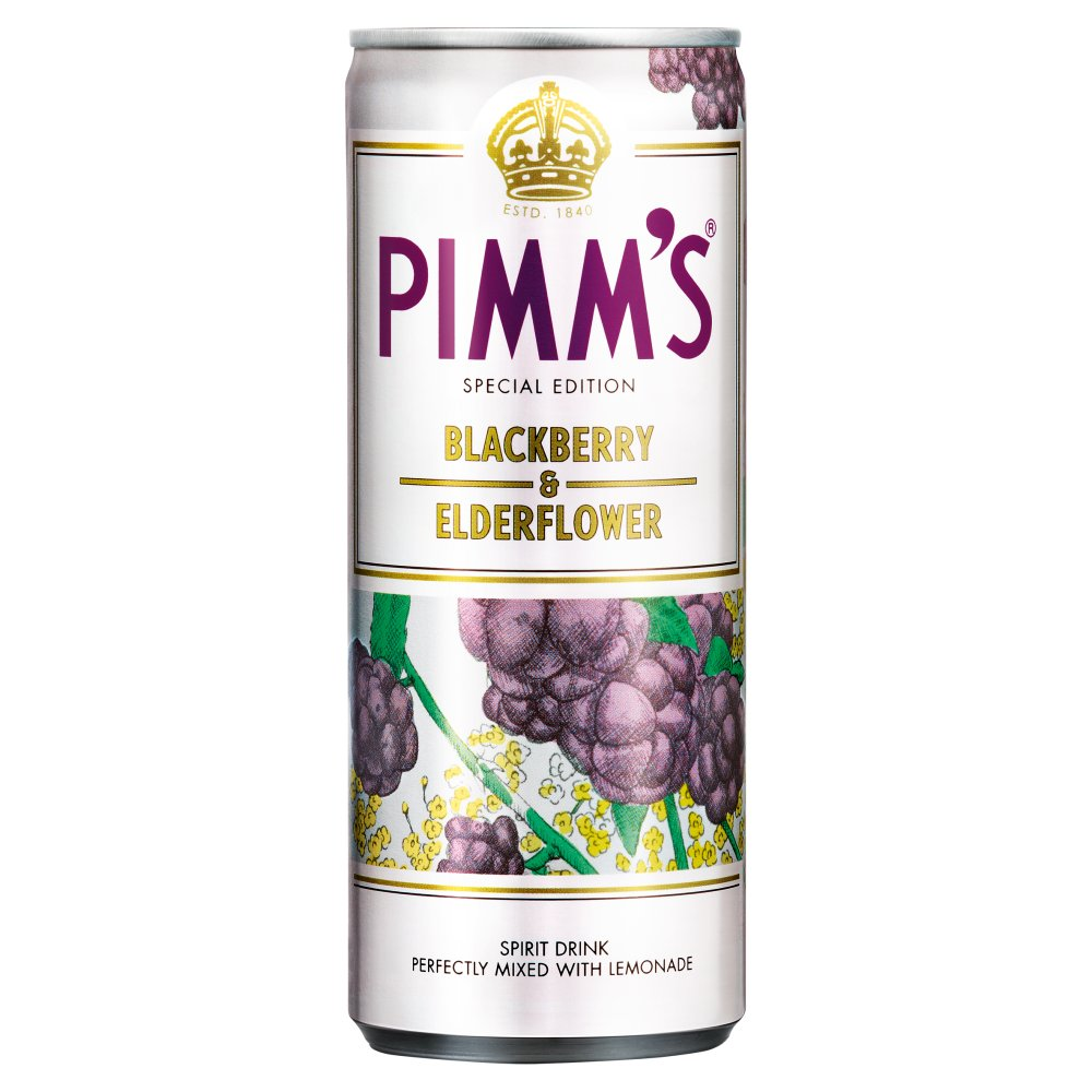 Pimm's Blk/Bry & Eld/Flwr & Lemonade 250ml