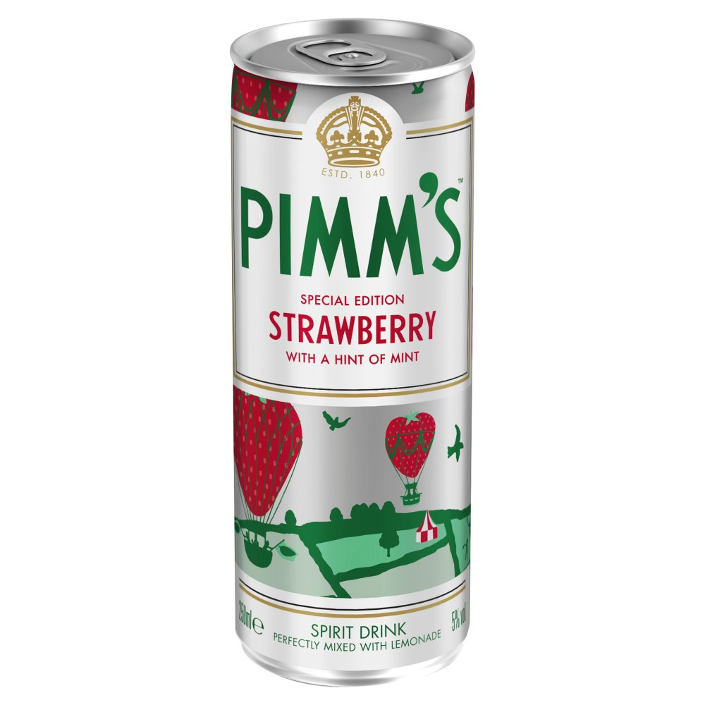 Pimms Strawberry Lemonade 250ml