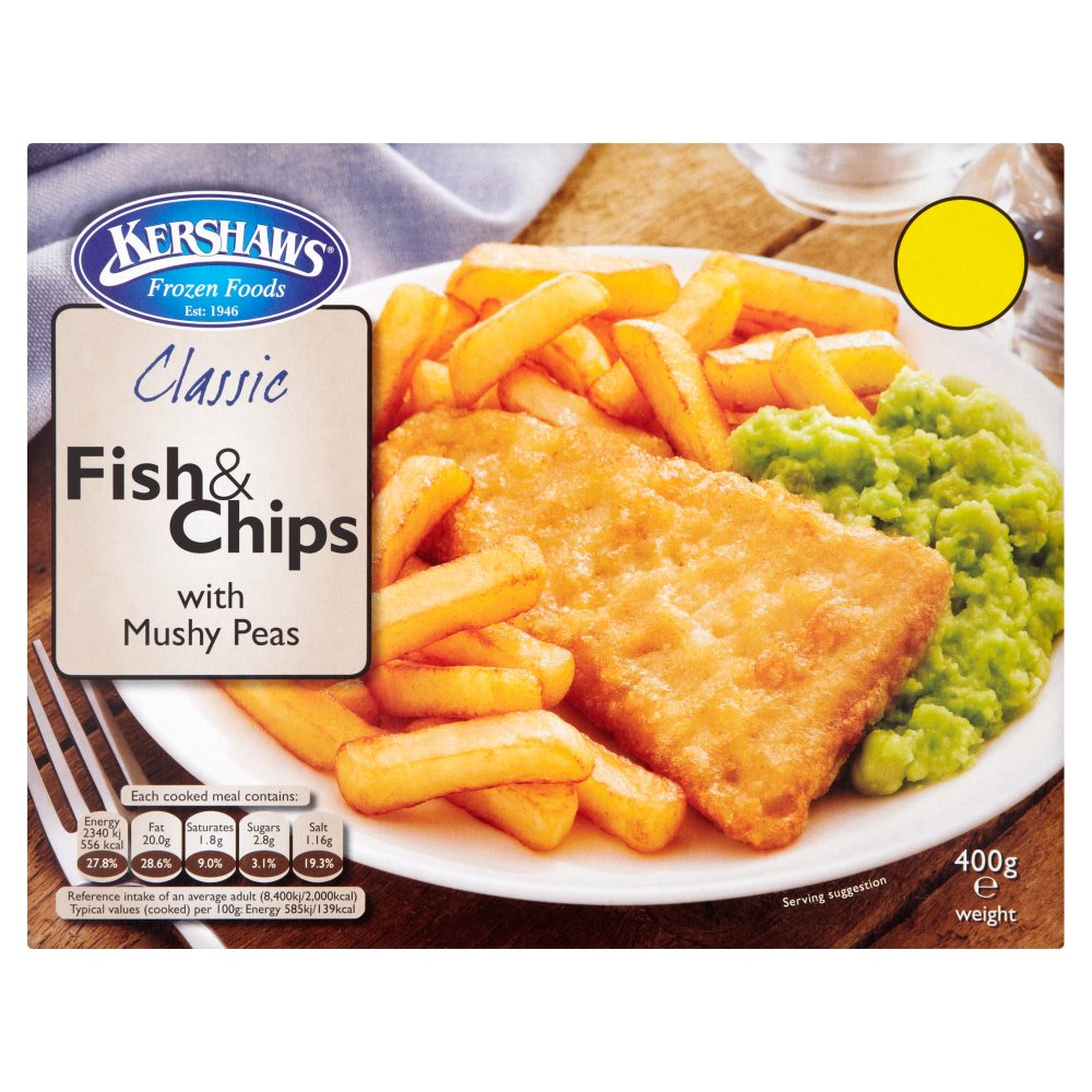 Kershaws Classic Fish & Chips PMP£1.69