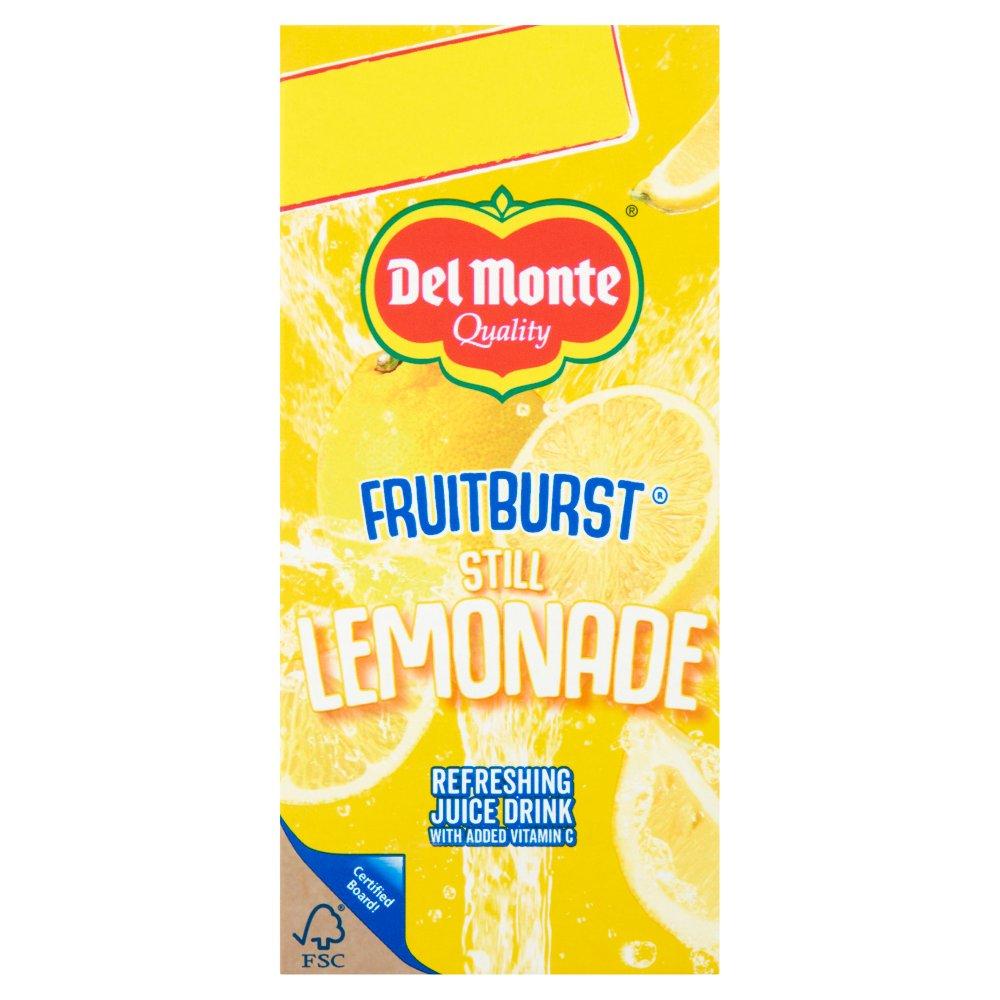 Del Monte Fruit Burst Still Lemonade Juice Drink 1 Litre
