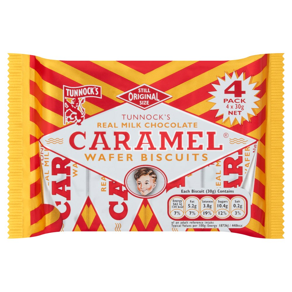 Tunnocks Chocolate Caramel Wafers 4s
