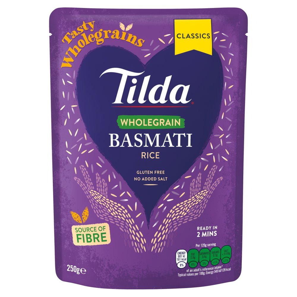 Tilda Wholegrain Basmati Rice 250g