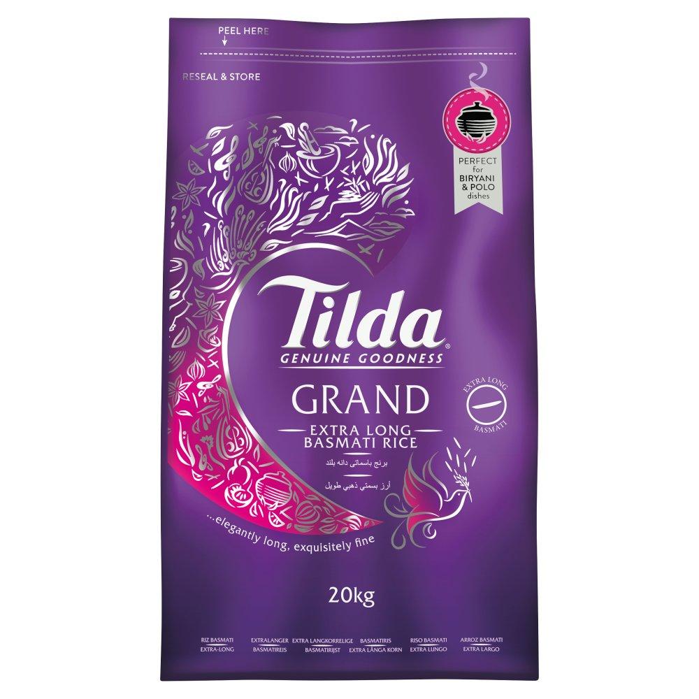 Tilda Grand Extra Long Basmati Rice 20kg