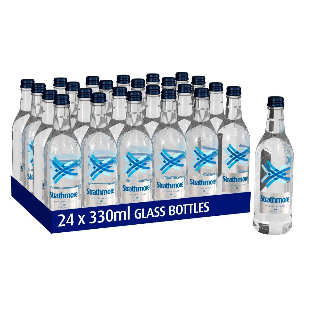 Strathmore Still Spring Water 330ml Glass Bottle