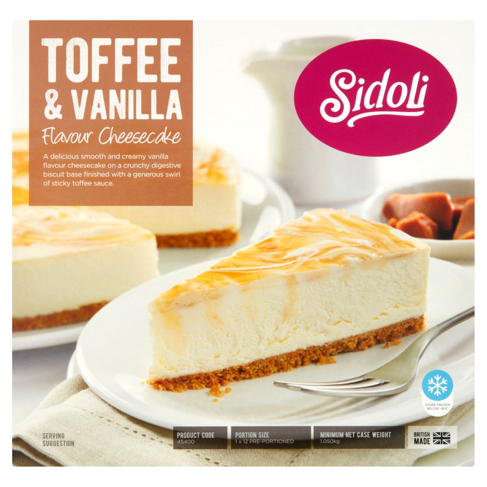 Sidoli Toffee & Vanilla Cheese Cake