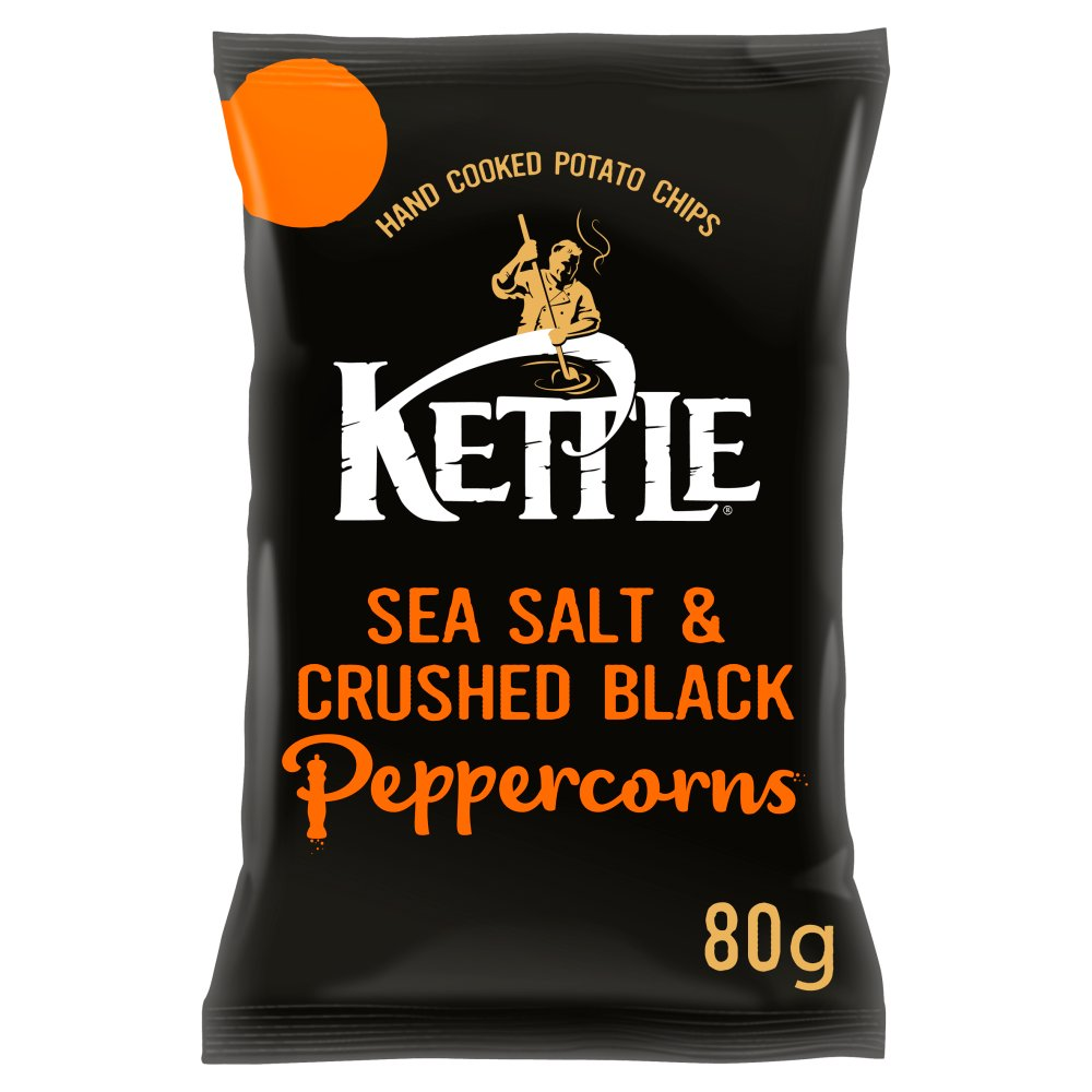 KETTLE® Chips Sea Salt & Crushed Black Peppercorns 80g