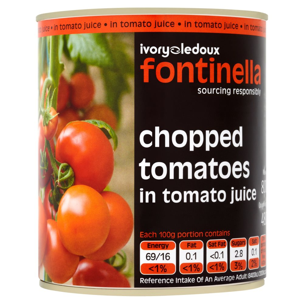 Packer Label Tomatoes Chopped