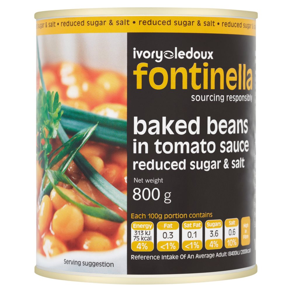 Font Red S & S Baked Beans