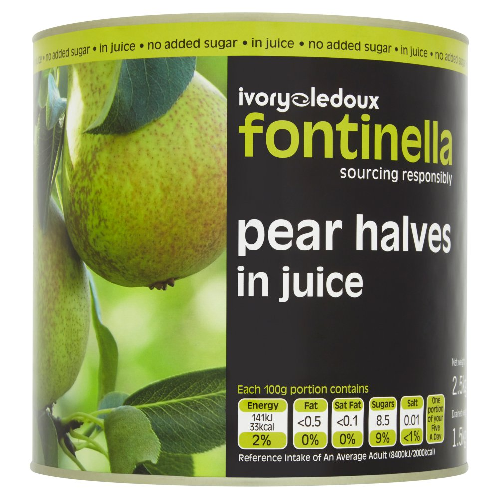 Packer Label Pear Halves Juice