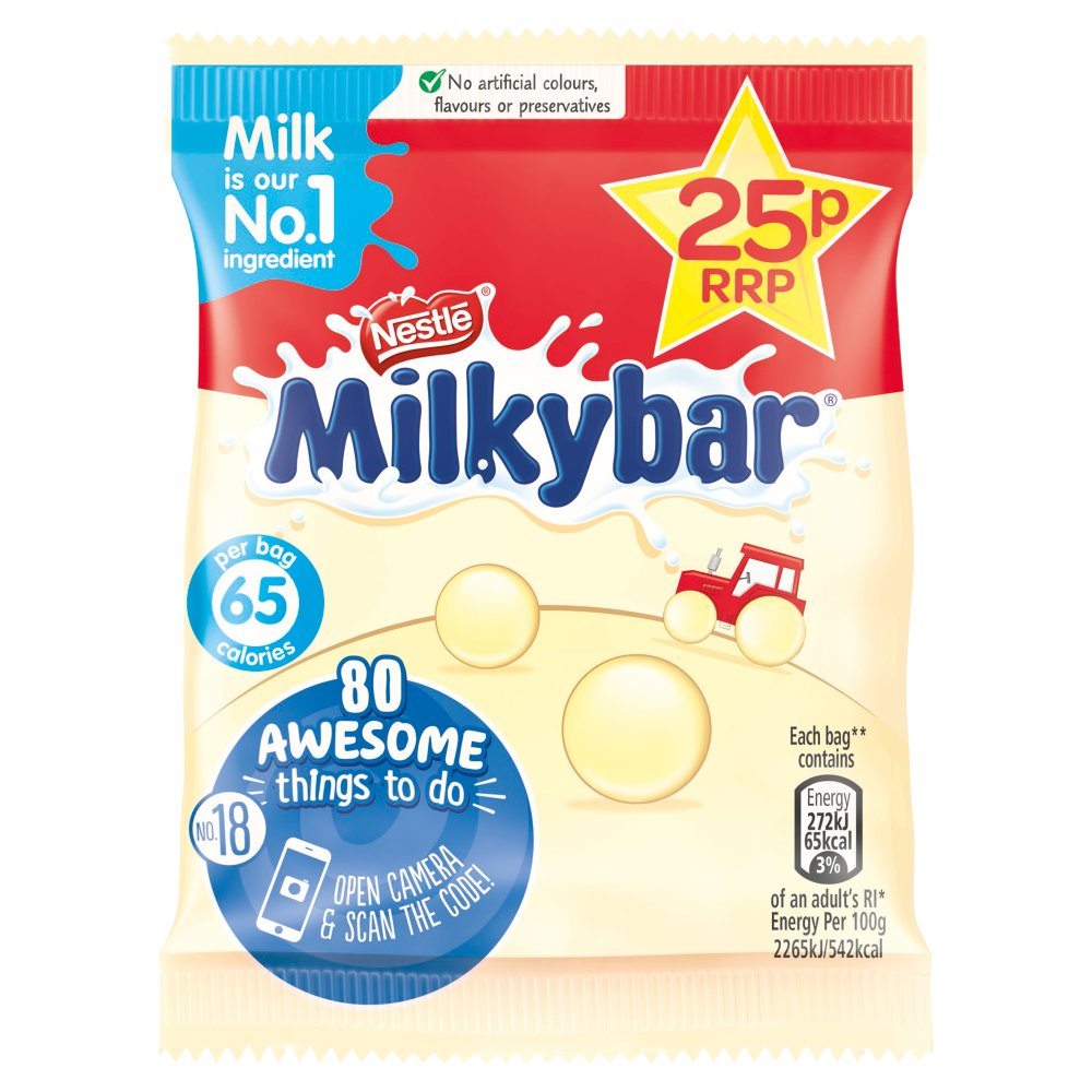 Milkybar White Chocolate Buttons Bag 12g PMP 25p