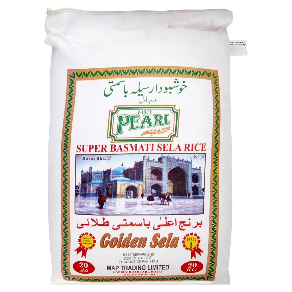 White Pearl Super Basmati Sela Rice 20kg