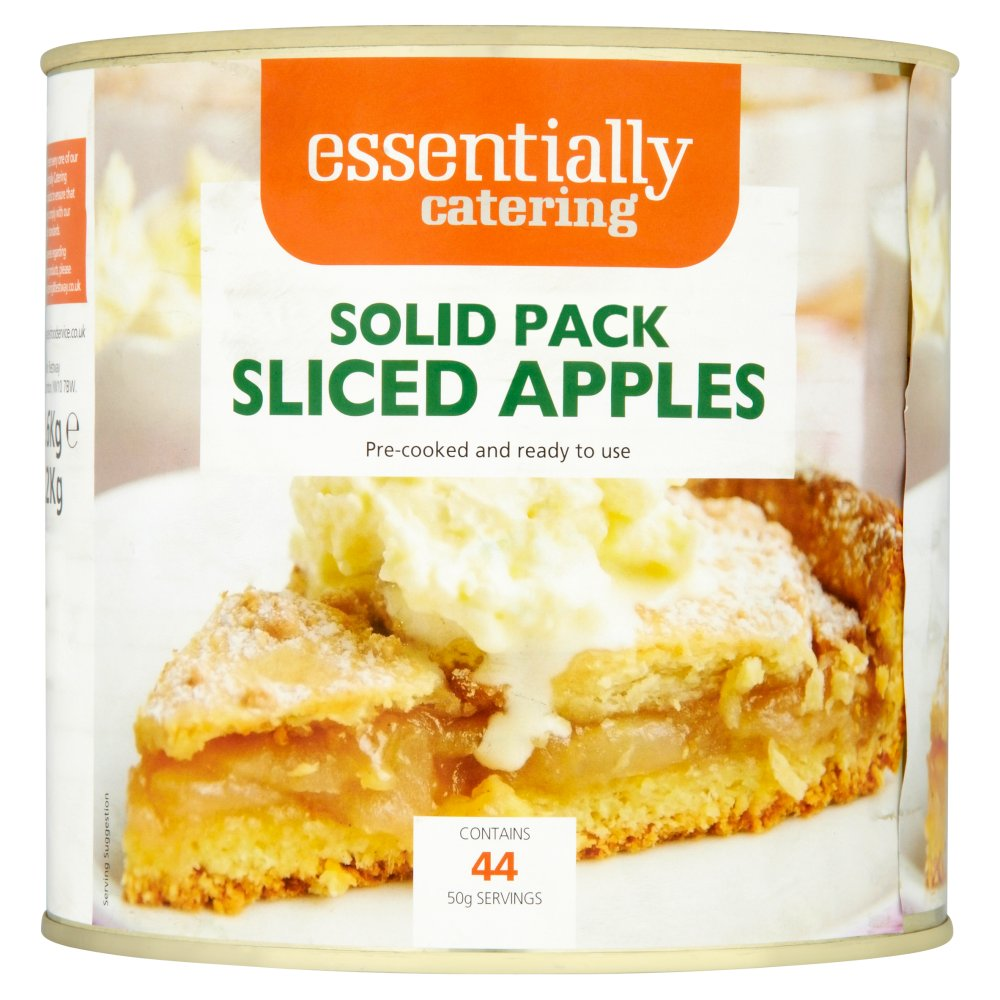 Essentially Catering Solid Pack Sliced Apples 2.6kg