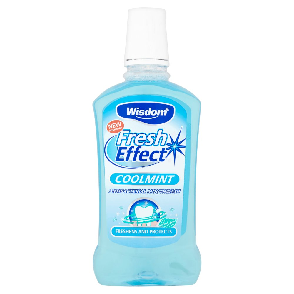 Wisdom Fresh Effect Coolmint Antibacterial Mouthwash 500ml