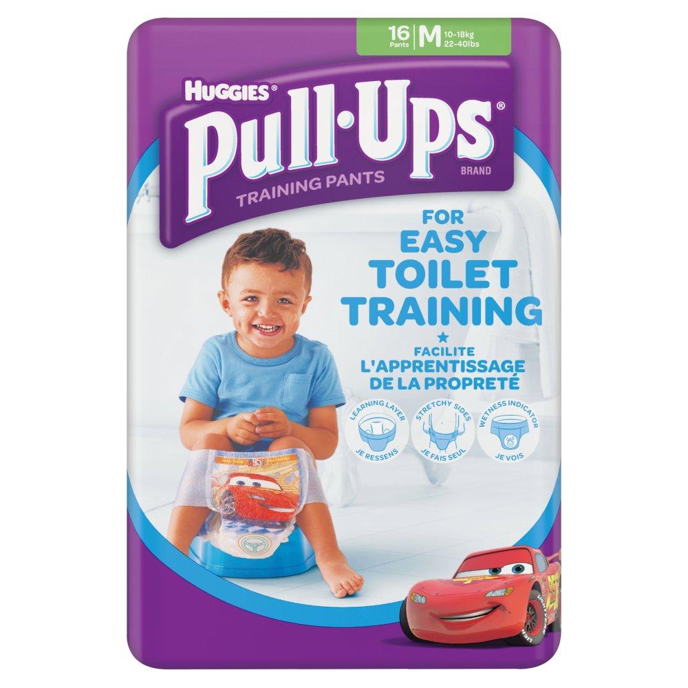 Huggies Pull Ups Day Time Potty Training Pants Boys Size Medium, 16 Pants