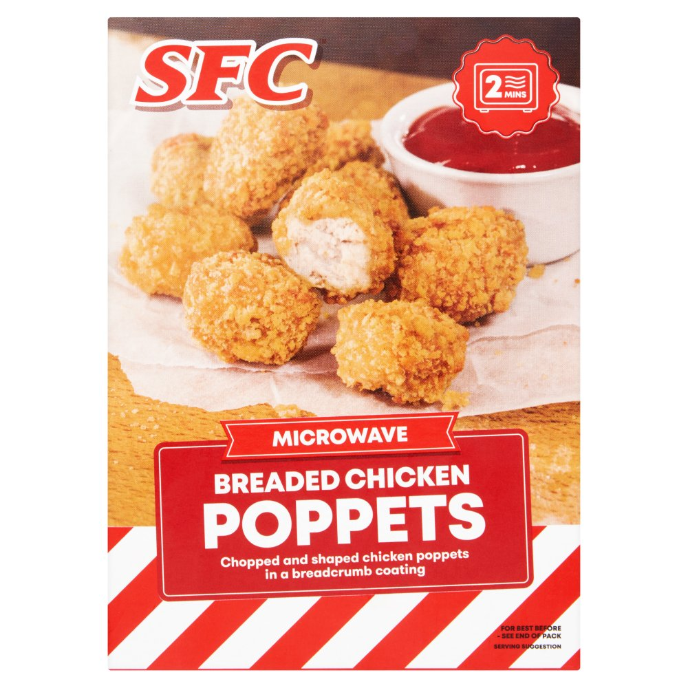 SFC Microwave Breaded Chicken Poppets 100g