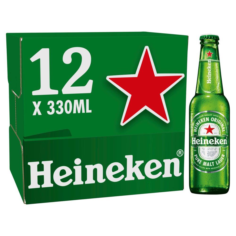 Heineken Premium Lager Beer 12 x 330ml