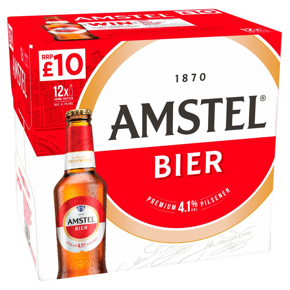 Amstel Bier Lager Beer 12 x 300ml