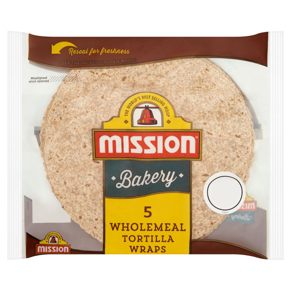 Mission Bakery 5 Wholemeal Tortilla Wraps