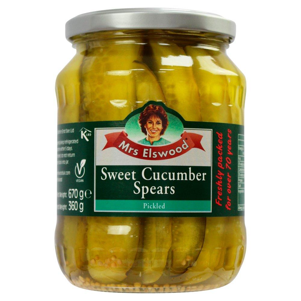 Mrs Elswood Pickled Sweet Cucumber Spears 670g