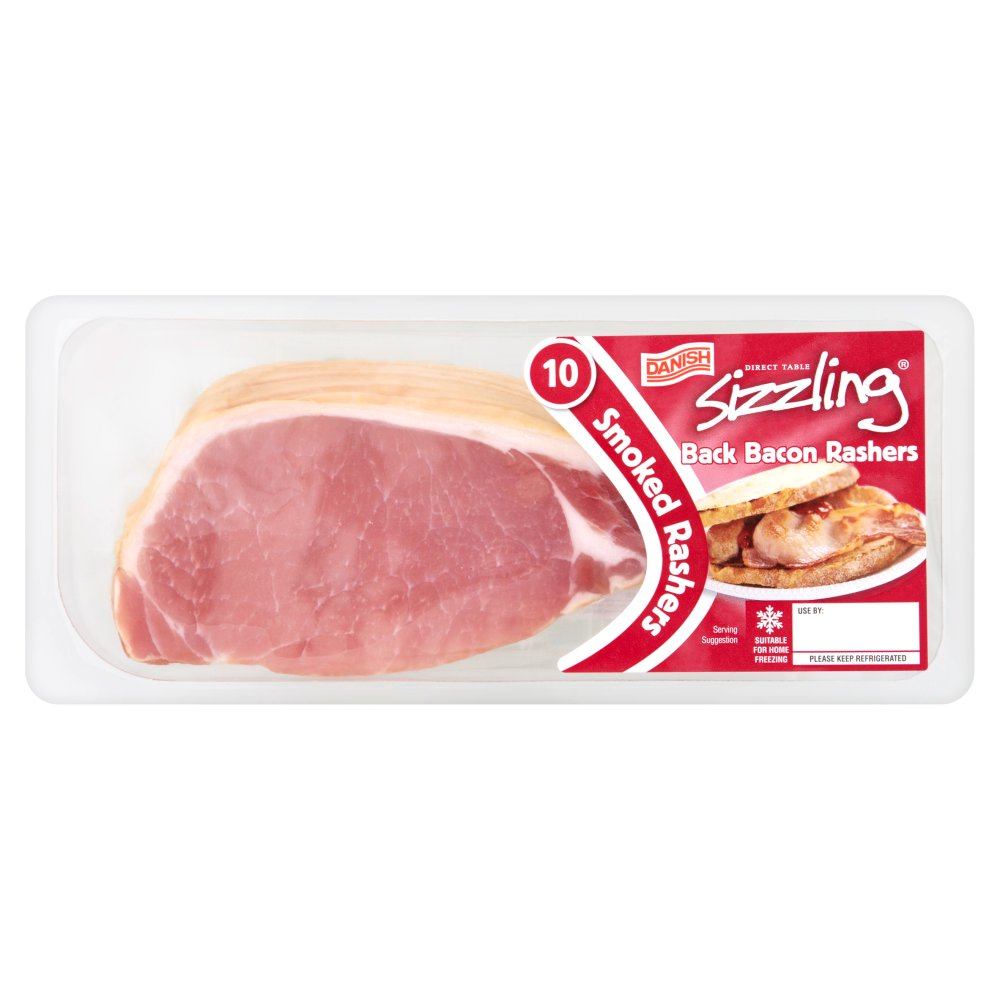 Direct Table Danish Sizzling 10 Smoked Back Bacon Rashers 300g