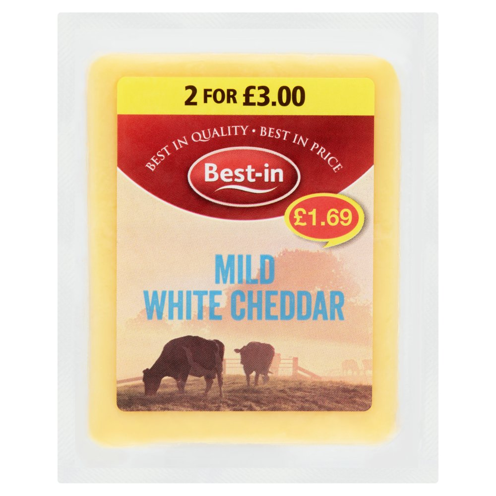 Best In Mild White Cheddar £1.69 2 For £3 PMP