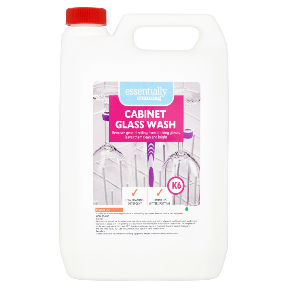 Essentially Cleaning Cabinet Glass Wash K6 5L