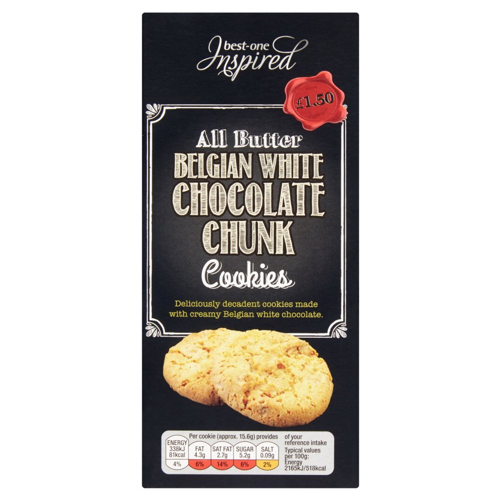 Best-One Inspired All Butter Belgian White Chocolate Chunk Cookies 125g