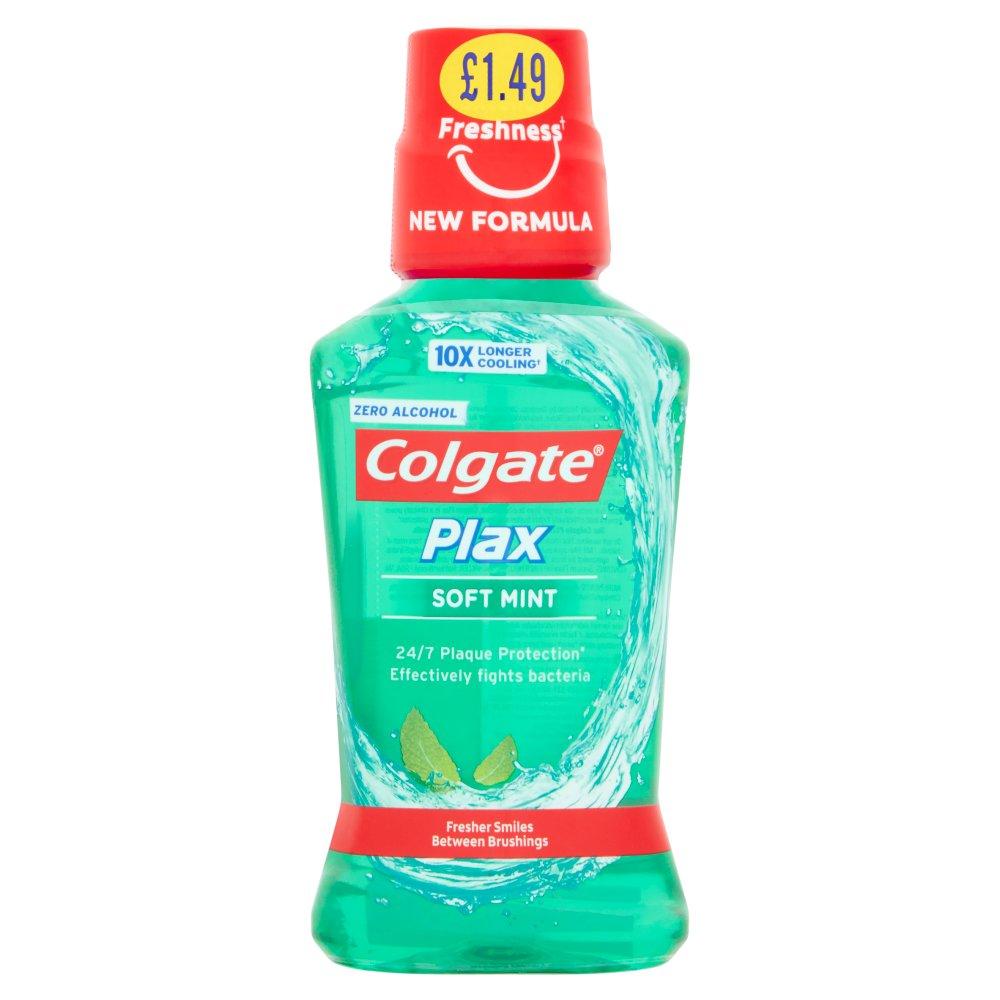 Colgate Plax Soft Mint 250ml PMP £1.49