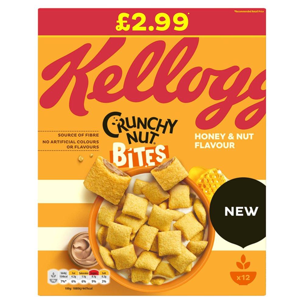 Kellogg's Crunchy Nut Bites Cereal 375g