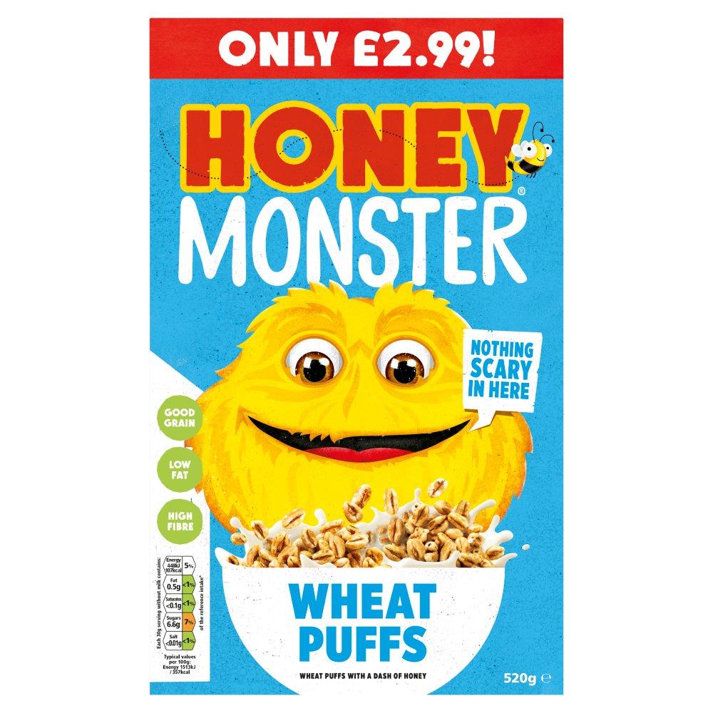 Honey Monster Wheat Puffs PMP £2.99 520g