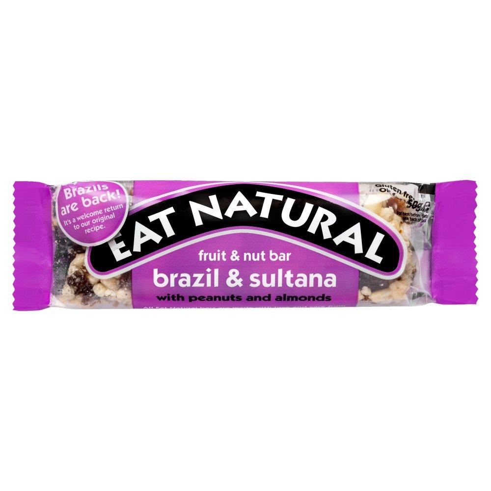 Eat Natural Fruit & Nut Bar Brazil & Sultana 50g