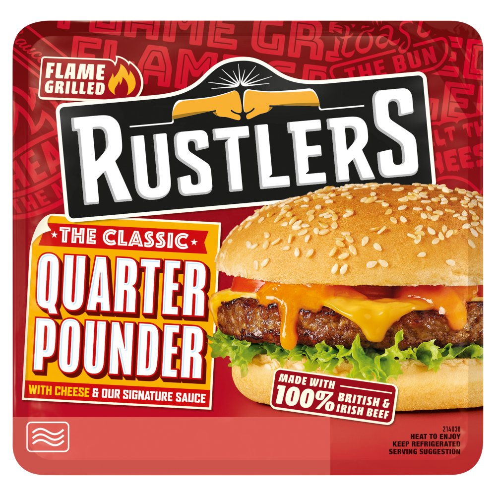 Rustlers Flame Grilled The Classic Quarter Pounder 190g