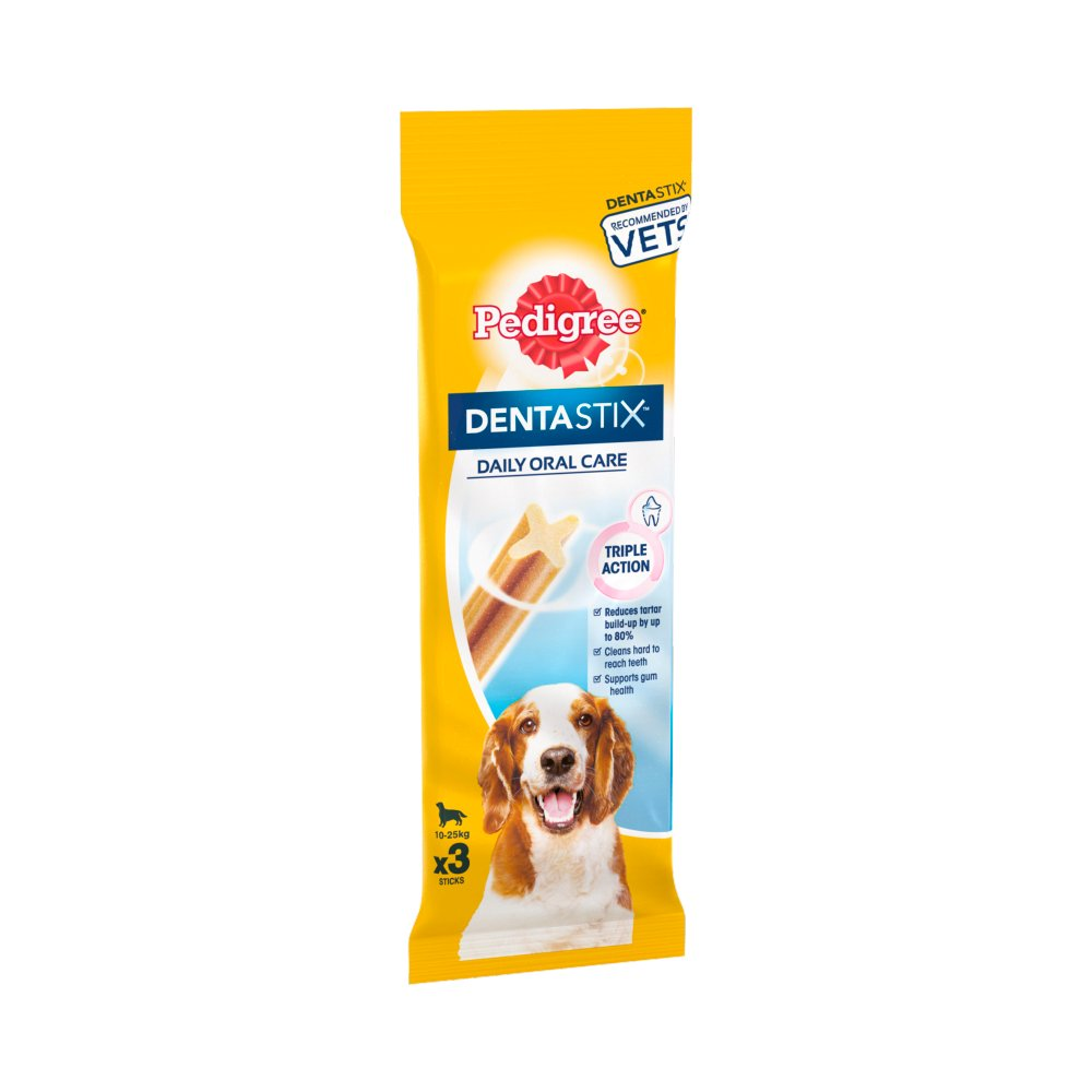 Pedigree Dentastix Daily Adult Medium Dog Dog Treats 3 Sticks 77g