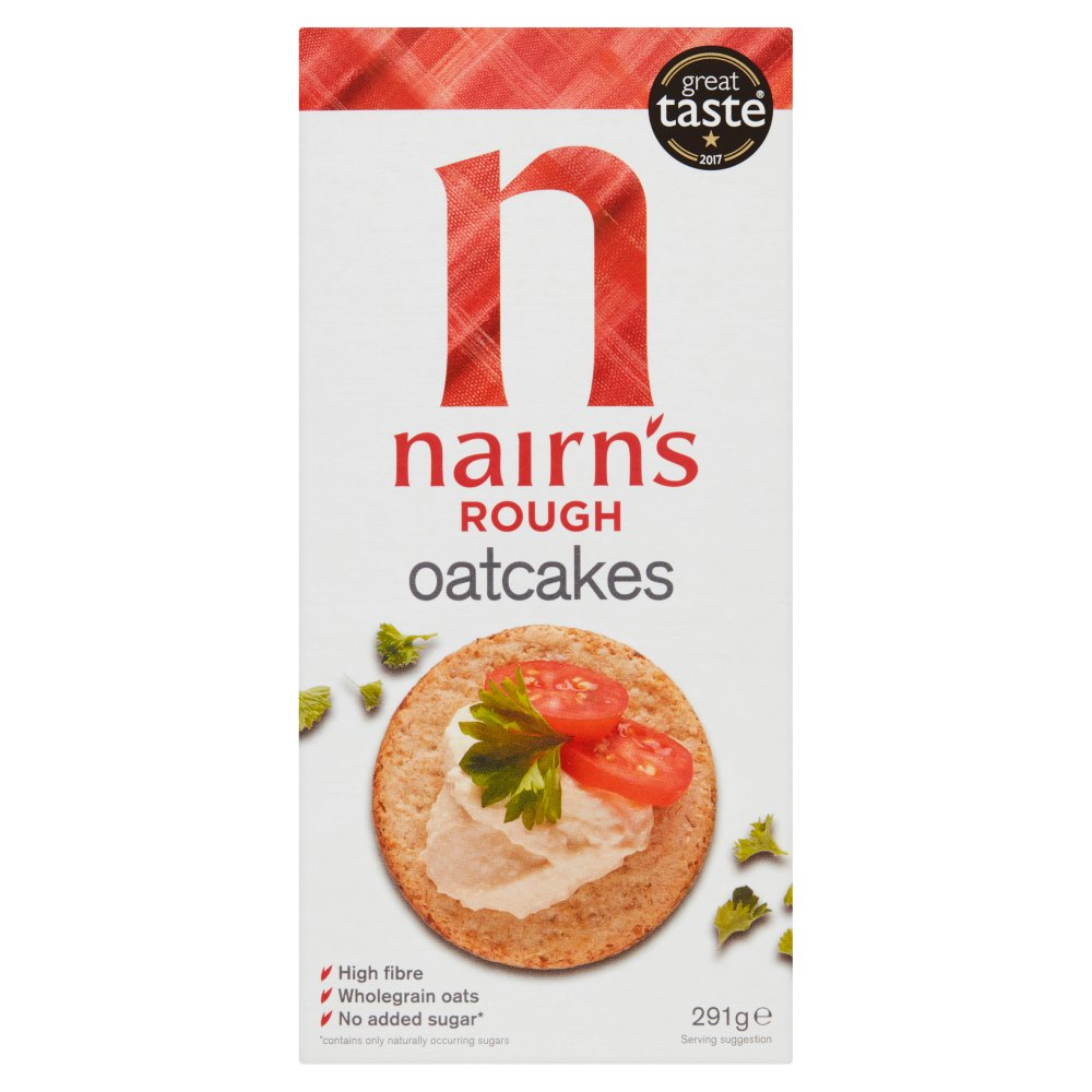 Nairns Rough Oatcakes 6X291g Shrink Film