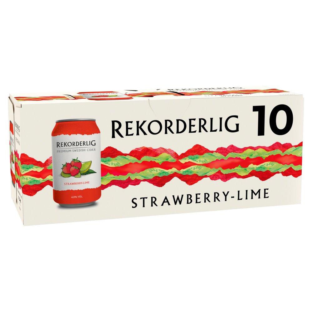 Rekorderlig Premium Swedish Strawberry-Lime Cider 10 x 330ml
