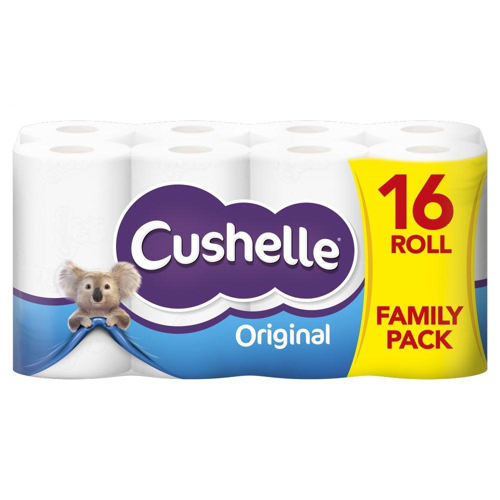 Cushelle White 16 Toilet Rolls