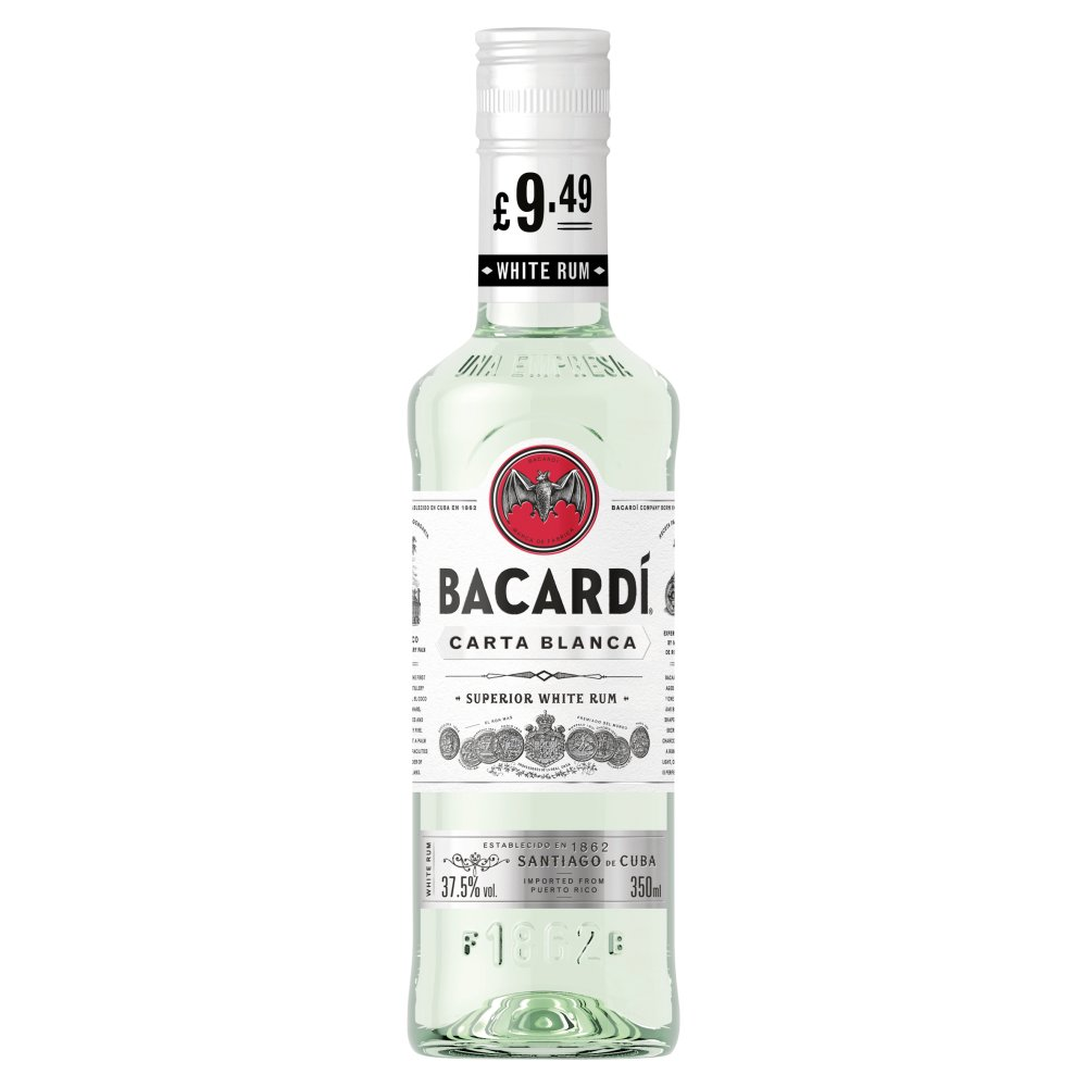 Bacardi Carta Blanca 350ml